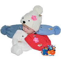 Детская шапочка арт.0604, вязка , для детей (р-р 36-38)