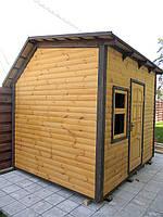 Дом садовода деревянный сборный щитовой, размер 2500х3000х2870