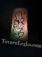 Лампа из соли - розы (12-15 кг)