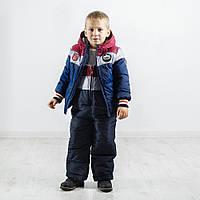 Модный детский зимний комбинезон  Бенеттон Нью, новинка зима 2017, фото 1