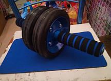 Ролик для пресса металлический (2 колеса)