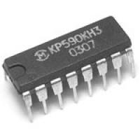КР590КН3 DIP16 восьмиканальный (4x2) аналоговый коммутатор с дешифратором
