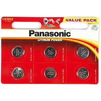 Батарейка 2032 Panasonic 3V (по 6 шт)
