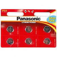 Батарейка 2016 Panasonic 3V (по 6 шт)