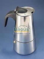 Кофеварка гейзерная из нержавеющей стали на 6 чашек Empire (EM-9554), фото 1
