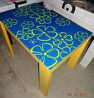 Стол обеденный, кухонный «Модерн»с рисунком на стекле