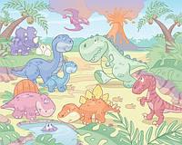 Детские фотообои Walltastic Бейби - Динозаврики