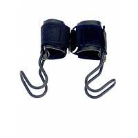 Крючки страховочные для турника и становой тяги голубые