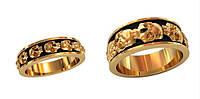 Смелые золотые обручальные кольца 585* пробы