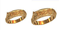 Удивительные золотые обручальные кольца 585* пробы