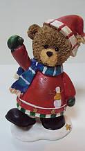 Статуэтка Новогодний мишка высота 13 см