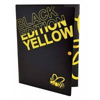 Папка на кнопці А4 LEO 490622 Black Edition