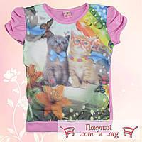Детские футболки для девочек 3d от 5 до 8 лет (4780)