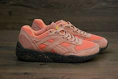 Женские кроссовки Puma Trinomic R698 Pink коралловые топ реплика