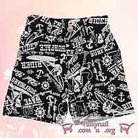 Стильные шорты для мальчика Морская тематика от 4 до 8 лет (4782-1)
