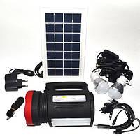 Фонарь ручной светодиодный с солнечной панелью и USB Power Bank Yajia YJ-1902