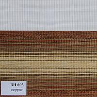 Рулонные шторы День Ночь Ткань Текила ВН 603 Copper