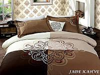 Постельное белье 200х220 VIP-Сатин First Choice JADE KAHVE