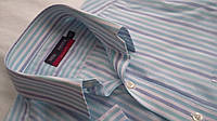 Рубашка бирюзовая Marks & Spencer котон Размер 15,5 Короткий рукав