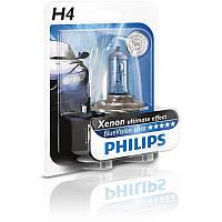 Philips blue vision ultra h4 12v 60/55w 4000k