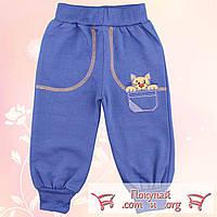 Трикотажные штаны с начёсом для малышей Рост: 74- 92 см (4789-2)