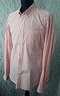 Рубашка розовая полоска  LOGG котон Размер М