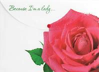 Папка на кнопці А4 LEO 490630 Роза