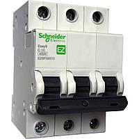 Автоматический выключатель Easy9 3р 25А, С, 4,5 кА (EZ9F34325)