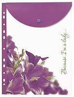 Папка на кнопці А4 LEO 490695 вертик. з перфор.