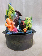 """Декоративный фонтан """"чудо рыбки"""" с подсветкой"""