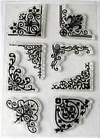 Набор силиконовых штампов, уголки