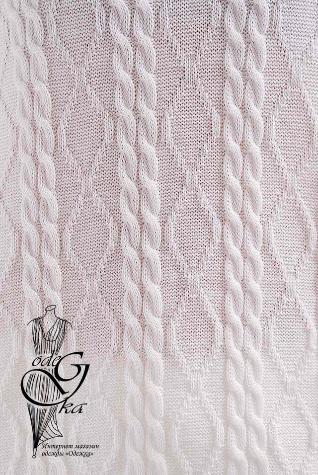 Белый цвет Вязаного спортивного костюма Дениз-1