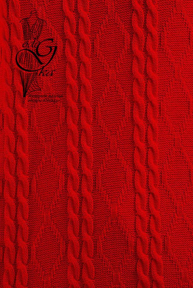 Красный цвет Вязаного спортивного костюма Дениз-1
