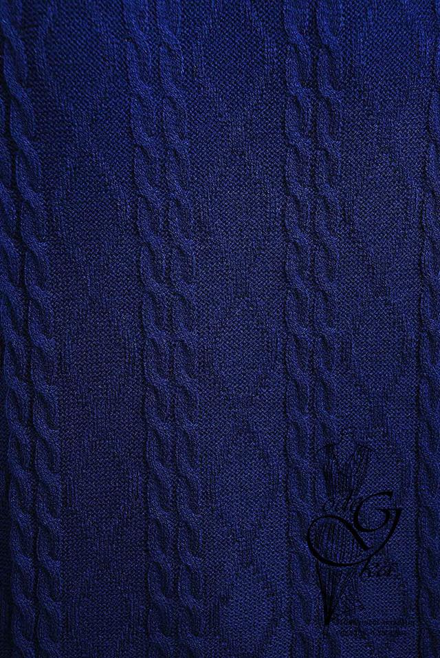 Темно-синий цвет Вязаного спортивного костюма Дениз-1