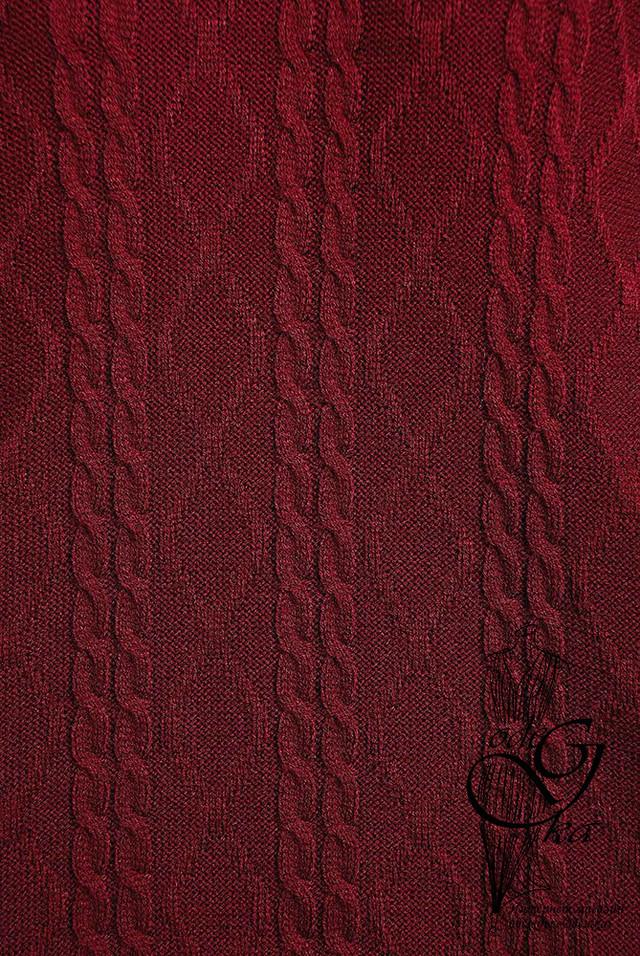Цвет шоколад Вязаного спортивного костюма Дениз-1