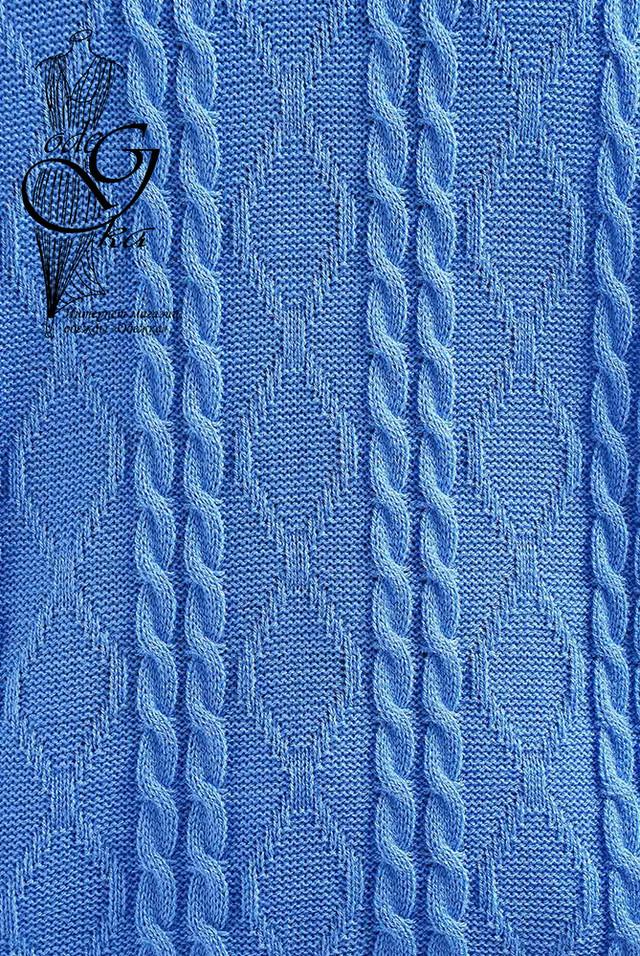 Голубой цвет Вязаного спортивного костюма Дениз-1