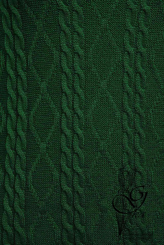Зеленый цвет Изумруд Вязаного спортивного костюма Дениз-3