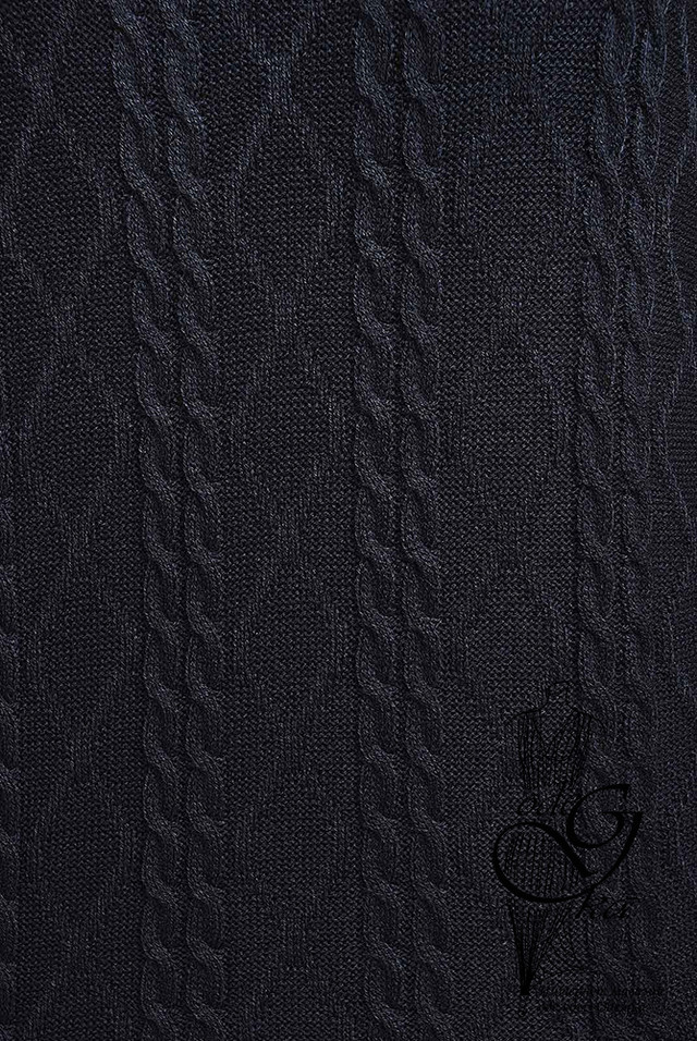 Ультра темно-серый цвет Вязаного спортивного костюма Дениз-3