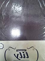 Простынь  махровая на резинке + 2 наволочки LILY TM Acelya  коричневая