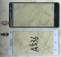 Lenovo A536 сенсорний екран, тачскрін білий