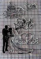 Набор силиконовых штампов, свадьба