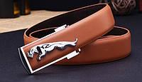 Мужской кожаный ремень Jaguar. Код : Р7, фото 3