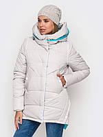 Молодежная женская зимняя куртка на силиконе 90196