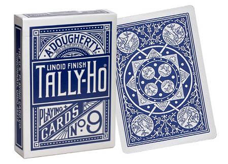 Карты игральные | Tally-Ho Fan Back синяя, фото 2