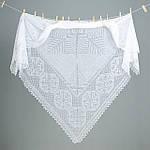 Оренбургский пуховый платок паутинка 160х160 см. Цвет: черный., фото 2