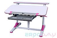 Детская парта растишка трансформер Ergoway T350L Pink