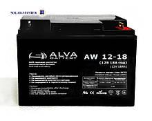 AGM аккумулятор ALVA AW 12-18Aч
