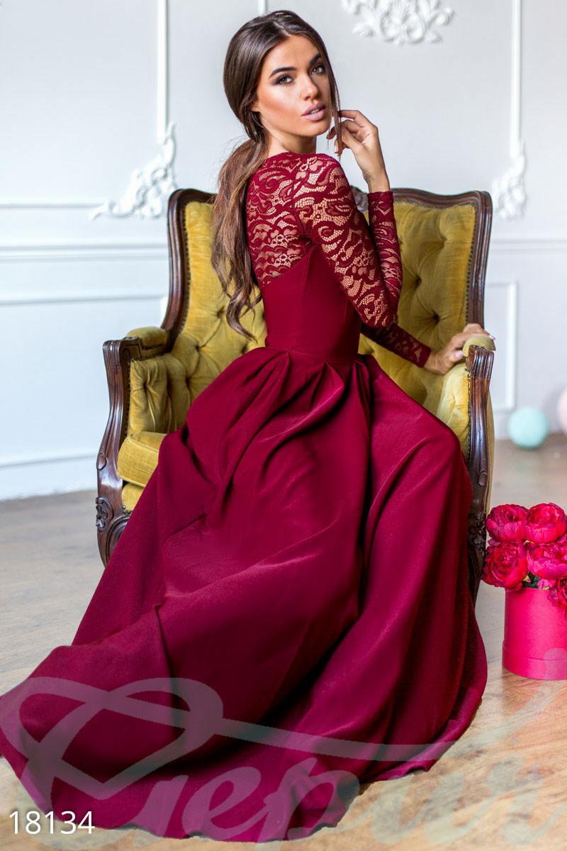 288bbab7fd3 Длинное вечернее платье. Цвет марсала. - Гарна пані - е-магазин жіночого  одягу