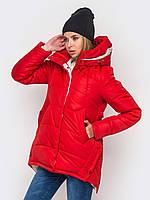 Молодежная женская зимняя куртка на силиконе 90196/1
