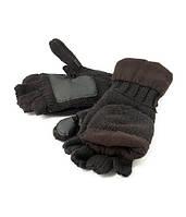 Рукавицы-перчатки Tagrider 1064 беспалые вязаные флис темные